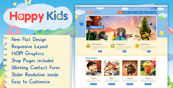 Happy Kids - Children HTML Template