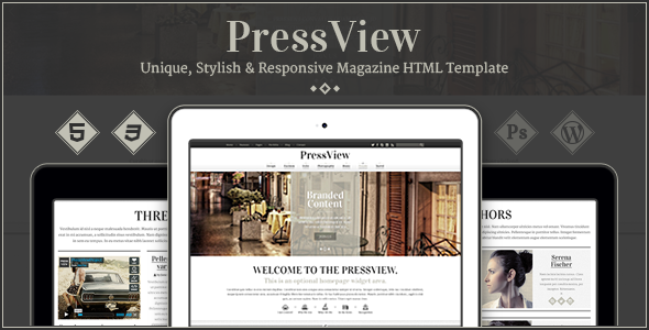 PressView - Vintage and Stylish Magazine Template