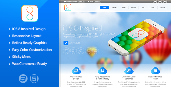 The 8 - Responsive Multipurpose Template