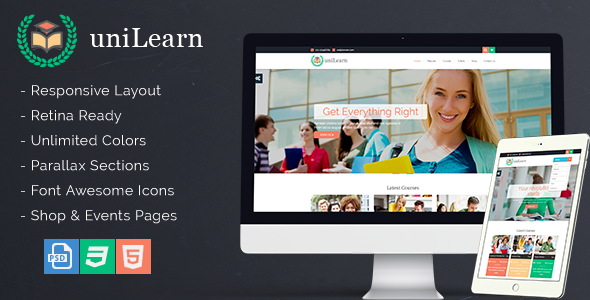 UniLearn - Education and Courses Template